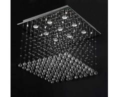 Jago - DEKL03-3 - Lámpara araña con colgantes de cristal - Base cuadrada