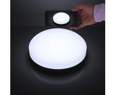 Lamparas de Techo LED 15W IP44 1600lm Plafón LED Moderno Redondo Blanco frío 6000K para Habitacion Cocina Comedor Pasillo Redondo Salón Baños Dormitorio
