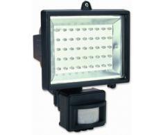 Electraline 63021 - Proyector halógeno (con detector, 27 W, 45 LEDs), color negro