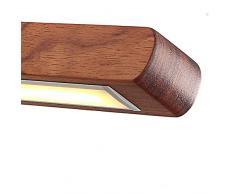 Lámpara colgante LED Azanaz Mesa de comedor rústica regulable 35W con altura regulable Control remoto Lámpara colgante Comedor, estudio, sala de estar, cocina (Imitación caoba)
