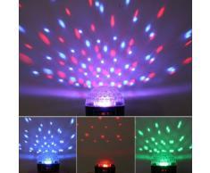 Spring - Bola de luz para discoteca (6 ledes, permite la reproducción de audio USB y tarjeta SD), LED Crystal Ball