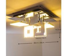 LED Lámpara de techo Krakau Viereckig, 4 x 4.5W por 350 Lumens, 3000 Kelvin (luz blanca cálida)