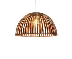 Luminaire Hanoi 30 - Lámpara colgante de bambú, 60 W, color marrón, 30 x 16 cm