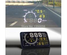BW coche HUD proyector Head Up pantalla OBD II HUD estilo de coche 13,97 cm completo de pantalla coche sistema de alarma Detector de coche