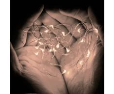 Eastchina® Flexible LED luces de cobre, luces de Navidad, luces LED con pilas, AA pilas 3m / 10ft 4.5v micro led 30 Super Bright Leds mini alambre de plata hada luces de hadas, hilo de cuerda ultra finas Plantas en maceta LED