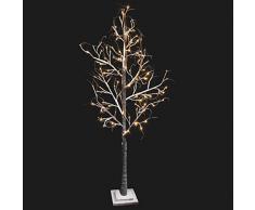 Árbol de Invierno LED de 1,80m apto para exteriores de luz cálida. Consta de 96 leds. Consume solo 4,8W.