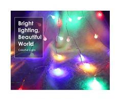 MoKo Guirnaldas Luces, Cadena de Luces 10m 100 LED Impermeable para La Decoración de Dormitorio, Fiesta, Navidad y Cumpleaños,Boda,etc. Bombilla - Colorido[Clase de Eficiencia Energética A+]