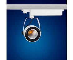 mext Electronic de 3 fases de alimentación carril Foco 42 W 2700 K blanco cálido LED 3 fases Foco para sistema de raíles