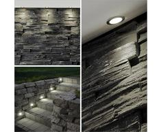 10x LED empotrada focos / luces empotradas, Ø 30 mm, IP44 - a prueba de salpicaduras, metales (cromo / blanco cálido)