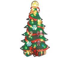 The Benross Christmas Workshop - Figura con luz led (con efectos metálicos), diseño de árbol de Navidad, plastico