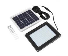 150LED Luz Solar de Sensor de Movimiento al Aire Libre Impermeable Resistentes al óxido Foco Reflector LED con Sensor Crepuscular para Exteriores 15W