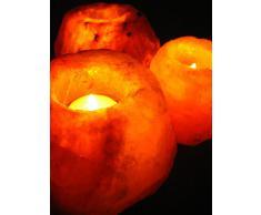 Salero cristal - lámpara para velas de cristal de sal lámpara colcha hasta 1 kg