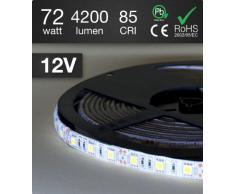 Ledpro Lighting Solutions - Guirnalda de luz LED (5 m, 72 W, 300 ledes SMD 5050, color blanco frío)