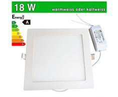 LEDVero - Panel LED ultrafino para techo (LED SMD 2835, 18 W)