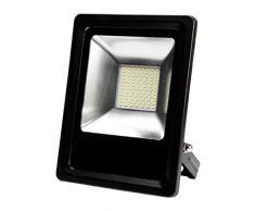 Digilamp 57-FL4-30W-WH-SUPER - Foco exterior extraplano, 30 W, LED, con chip Cree