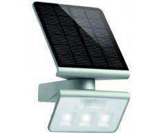 Steinel Xsolar L-S plata - Lámpara Solar LED con 140° detector de movimiento, Potencia de 1,2 Watt, Luminosidad de 150 lm, Panel solar monocristalino, acumulador de litio-hierro 2500 mAh, 671013