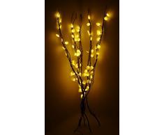TOYLAND Luces de Rama de 100 cm con Luces LED Blancas cálidas y decoración de Disco Plateado
