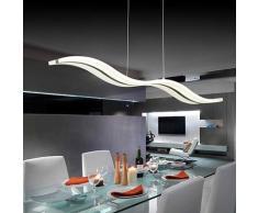 Create For Life® Lámpara colgante LED de diseño moderno,techo luz,lámpara colgante acrílico,para comedor(Blanco fríoo 36W)