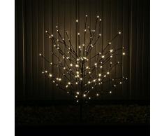 CLGarden LEDLZ144 Rama de luz LED para interior y exterior con extensión y punta de tierra, rama para decoración o como un pequeño árbol, Ramas con luz LED con estaca, decoraci