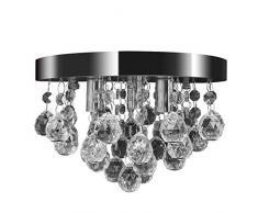 Lámpara de techo colgante de cristal de diseño Araña del cromo