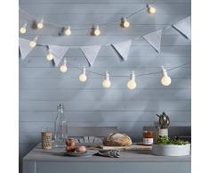 Guirnalda de 20 Party LED blanco cálido, Interior y Exterior