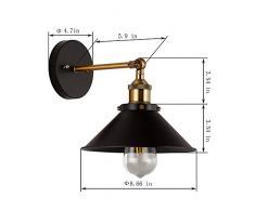 CMYK Vintage Lámpara de Pared, Industrial Apliques Diseño de Metal Ajustable E27 Socket Retro Casa Decor Iluminación