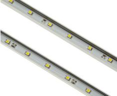 Posseik 5616 92 Rima - Barra De Luz Led Para Estante De Cristal, Metal