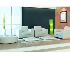 Dreams4Home Seoul - Lámpara de pie (estructura de metal recubierta de papel, 30 x 123 cm, 2 bombillas E27 40 W máximo, no incluidas, incluye interruptor de pedal), color verde