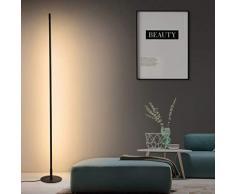 XMYX Lámpara de Pie LED Regulable con Control Remoto, Lámpara de Suelo Minimalista Moderna para Sala de Estar, Dormitorio, Estudio, Oficina, Altura 158 cm, Negro