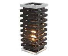Näve Leuchten 3069522 - Lámpara de mesa táctil (11,5 x 11,5 x 29,5 cm), color negro
