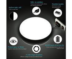 Viugreum led lámpara de techo, Blanco Frío/Blanco Cálido plafónes led techo, lampara de techo empotrada adecuada para salón, cocina, dormitorio, baño, escalera, porche, pasillo (36W Blanco Frío)