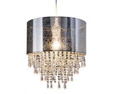 Naeve Leuchten 6048442 - Lámpara de techo colgante con piedrecitas acrílicas, diámetro 30 cm, altura 150 cm