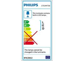 Philips myGarden Calgary - Aplique, LED, iluminación exterior, 230 V, IP44, E14, color gris