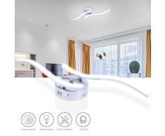 Lixada 2 Ramas Luz de Techo en Forma de Rama Ondulada de Aluminio 12W para Lámpara de Decoración de Sala de Estar de Dormitorio