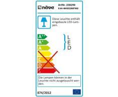 Naeve Leuchten 239259 - Lámpara LED de pie (altura de 135 a 155 cm, diámetro de 18 cm), color plateado y cromo