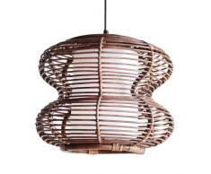 Tradicional forma de cacahuete de ratán natural hecha a mano restaurante lámpara de techo sala de estudio, comedor iluminación lámpara de techo el sudeste de Asia elegante Pedant