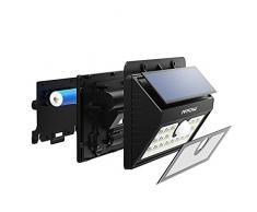 Lampara Solar 20 LED Impermeable con Sensor de Movimento, Mpow 1500mAh Foco Solar para Jardín Casa Camino Escaleras Pared, Iluminación de Exterior y Seguridad 2 Unidades