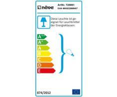 Naeve Leuchten 728861 - Lámpara de techo para niños (madera, IP20, no incluye 1 bombilla E27, 40 W, 230 V, 43 x 20 cm), color azul y rojo