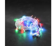 Konstsmide 4650-503 Hightech System - Guirnalda de luces LED (50 diodos de colores), transparente