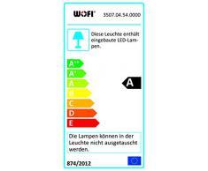 WOFI lámpara de pie, 4-techo Davis 4 x LED/5 W, 18 x 135 x 18 cm, 3000 K, 400 lm, eficiencia energética de clase A con interruptor, níquel mate/cromo 3507,04,54,0000