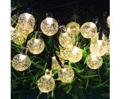 NuoYo Cadena de luces LED Salcar de Colores, 30LED Solar Guirnalda de Luces Navidad Exterior Parranda Fiesta Jardín 9M para Navidad, Fiestas, Celebraciones.
