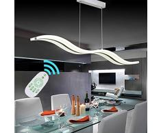 Create For Life Lámpara de techo,Lámpara colgante LED 38W LED Moderna acrílico lámpara iluminación interior LED Lámpara colgante, Regulable,3000k-6000k