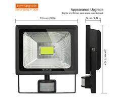 Foco LED con Sensor Movimiento 3000LM, MEIKEE 30W Proyector LED Exterior 6500K con Detector PIR, Iluminación de Exterior y Seguridad IP66 Impermeable para Patio, Jardín, Terraza, Camino, Trastero