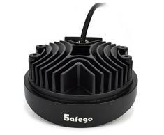 Safego 12 V 24 V 27 W LED Luces de Trabajo lámpara para camión Offroad 4 x 4 ATV Tractor 60 Degree inundación Haz 27 WR-FL Pack de 2
