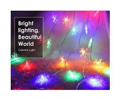 MoKo Guirnaldas Luces, Cadena de Luces 10m 100 LED Impermeable para La Decoración de Dormitorio, Fiesta, Navidad y Cumpleaños,Boda,etc. Nieve - Colorido[Clase de Eficiencia Energética A+]