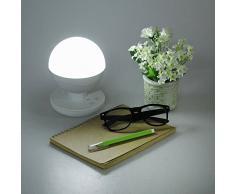 Lámpara LED - Foxpic Linterna USB Táctil Lámpara Inteligente Recargable Portátil de Mesa Batería de litio 2200mAh 2 W Lámpara de Noche Para Interior y Exterior (luz nocturna, linterna de camping) - Blanco
