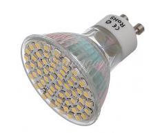 5W GU10 Focos LED Luces Empotradas 60 SMD 3528 300LM lm Blanco Cálido / Blanco Fresco Decorativa AC 100-240 / DC 12 V 6 piezas ( Color de Luz : Blanco Frío , Voltaje : 220v-5W )