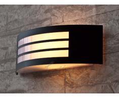 Moderna Lámpara de Pared / Iluminación Exterior IP44 / Acero Inoxidable / de Color Negro Apagado 8409n