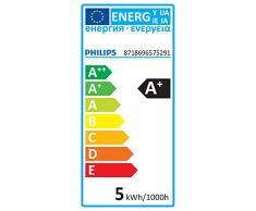 Philips Lighting gota Bombilla LED esférica retro/filamento E14, luz blanca cálida, 40 W, Pera, Pack de 1