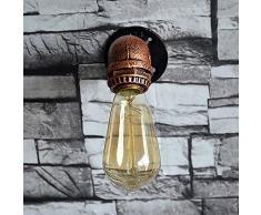 kinine Decoración Industrial simplicidad Edison Mini pared de cristal apliques de pared exterior rústico Vintage Lámpara Luz de Forma 011 lámparas de pared